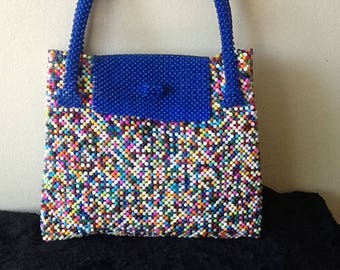 Multi Color Bead Bag
