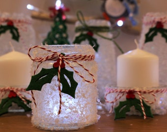 Festive Snowflake Candles