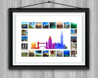 London Cityscape & Photo Collage