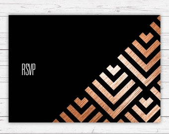 RSVP cards - Geometric design and beautifully printed