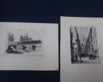 Leopold Robin Etchings
