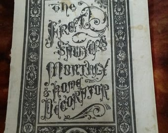 Fret Sawyers Monthly and Home Decorator-November 1880