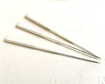 Set of 3 big average Fine felting needles