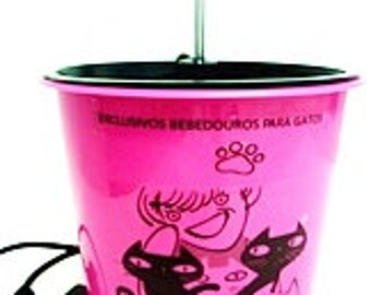 Drinking fountain for cats Cat plastic Online 1700ML pink