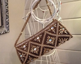 1950's bag with Swarovski crystal accents and beading