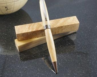 Zebrawood Hand-Turned Euro Pen