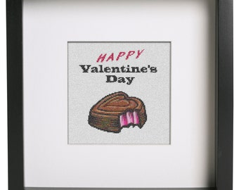 Valentine's Day Chocolate, Cross Stitch Pattern