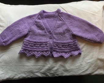 Lilac Baby Girls Cardigan