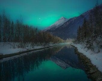 Canvas Print - Aurora Borealis Reflections