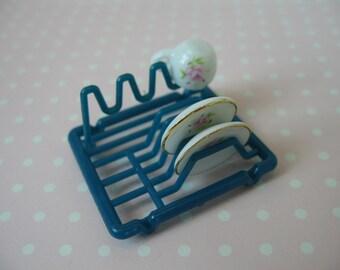 Dolls House Miniature Plate Drainer