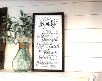 Our Family 12X24 | Farmhouse | Farmhouse Style | Rustic Decor | Home Decor | Wood Sign | Family | Handpainted