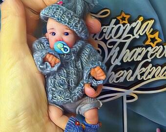 OOAK Polimer clay baby Boy Max 4.7 in