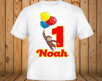 Curious Geoge Birthday Shirt
