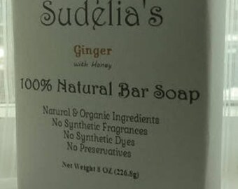 Ginger with Honey bar soap