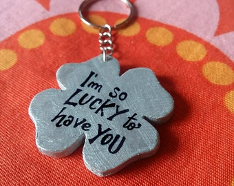 Wooden Keychain for those in love