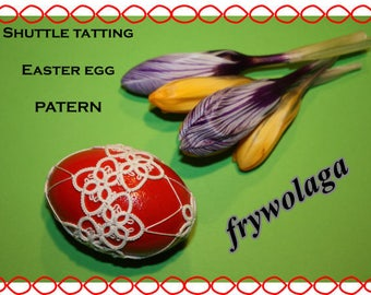 Easter egg - shuttle pattern PDF