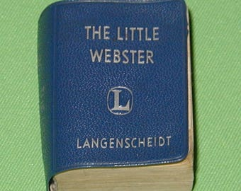 The little webster small miniature hand pocket dictionary brans and nobel rare vintage book