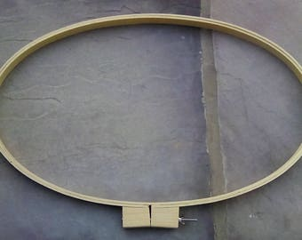 Wood Embroidery Quilting Sewing Oval Hoop  20.25 Inches