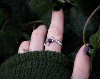Amethyst Faerie Ring 925 Sterlingsilver