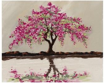 dark pink tree