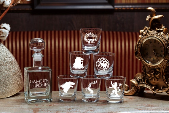 Game Of Thrones Gift Glass Whiskey Decanter Set Scotch Glass