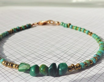 Bracelet Jasper & Seed Beads