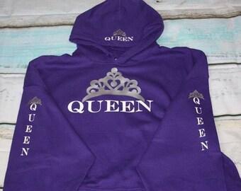 Queen Hoodie Crown Sweatshirt