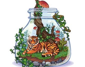 Tiger Plant Terrarium
