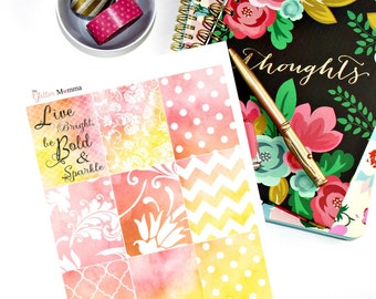 Bold & Bright | Full Boxes | Erin Condren Life Planner Vertical