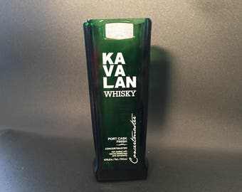 HANDCRAFTED Candle UP-CYCLED Kavalan Whiskey Bottle Soy Candle. Made To Order !!!!!!!