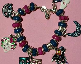 Masquerade Ball Silver Charm bracelet