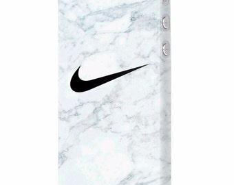 Sport Nike marble marmur white Just do it protective slim plastic case design for iPhone 5, 6, 7, Plus , Samsung S6, S7, Edge mobile phones