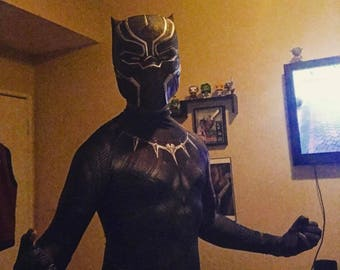 Black Panther Civil War Helmet. 3D Printed wearable prop. Black Panther Costume / Cosplay Adults.