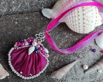 Fantasy Mermaid Mermaid Cosplay Locket Necklace Shell Pendant