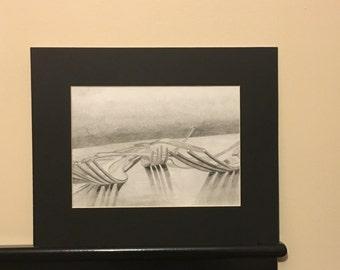 Fork Drawing Print