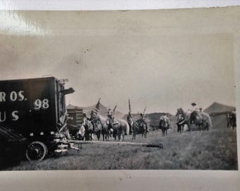 """Cole Brothers Circus 1938 """"Spec"""" line up - Ken Maynard.  See description"""