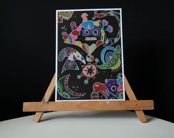 A whimsical night paper print edition