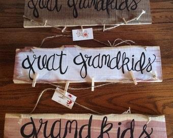 Grandkids plaque