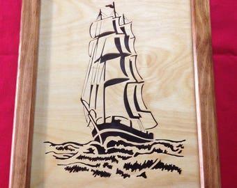 Ship Wooden Portrait