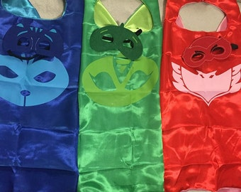 PJ Superhero Cape and Mask