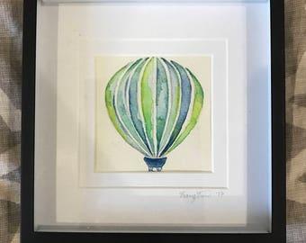 Hot Air Balloon Watercolor