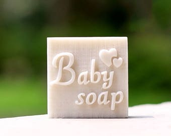 "Heart ""Baby Soap"" Resin Soap Stamp"