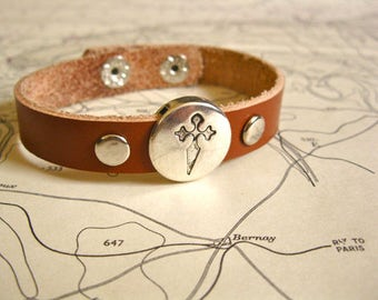 St James cross bracelet from Spanish Camino de Santiago pilgrim way