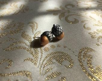 James Avery inspired Acorn earrings, charm, pendant, keychain, emblem