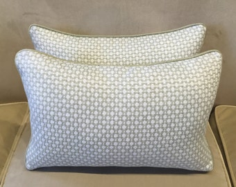 Holland and Sherry fabric covered rectangular cushion