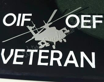 OIF OEF Veteran Decal