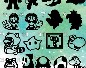 Mario decals, Decal Only!