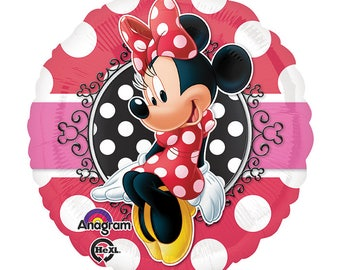 SHIPS FAST - Minnie Mouse Birthday Balloon, Minnie 1st Birthday Party, Minnie Mouse Party, Minnie and Mickey Party, Minnie Birthday Decor