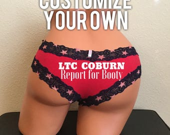 Customize Your Own VS Pink Patriotic Cheeky, Memorial Day, Independence Day, Red White and Blue Panties, Stars and Stripes Panties