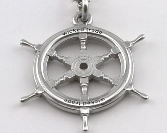Ships Wheel Pendant
